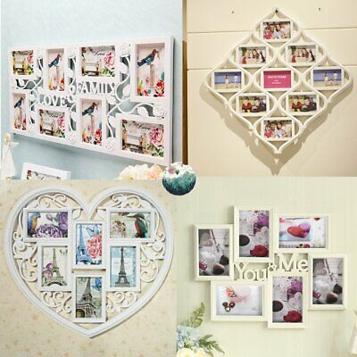 £12.99 • Buy Multi Photoframe Family Love Frames Collage Picture Aperture Wall Photo Frame