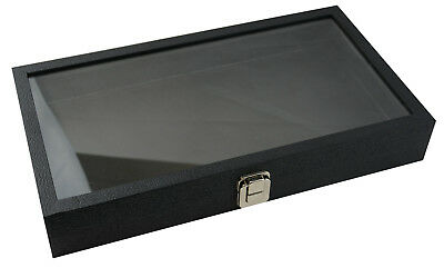 £18.99 • Buy Top Of The Range Large Black Display Case With Glass Lid