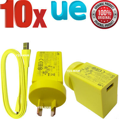 AU179.99 • Buy 10x Original 2a Wall Charger & Micro USB Cable For Logitech UE Boom 2 Megaboom