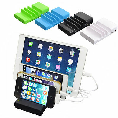 AU15.01 • Buy Universal Multi 4 Port USB Charging Station Smart Phone Wall Charger Dock Holder
