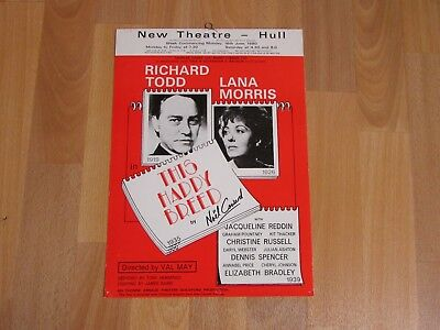 Richard Todd Lana Morris This Happy Breed 1980 Original New Theatre HULL Poster • 12.99£