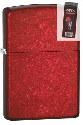 $14.93 • Buy Zippo 21063 Candy Apple Red Lighter + FLINT PACK