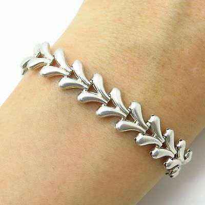 $40.99 • Buy Italy 925 Sterling Silver Foxtail Design Puffy Link Bracelet 6 3/4