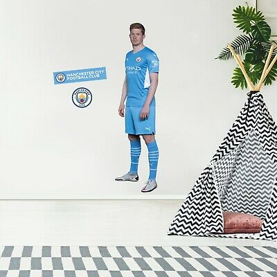 £29.99 • Buy Manchester City Kevin De Bruyne Player 20/21 Wall Sticker + Man City Decal Set