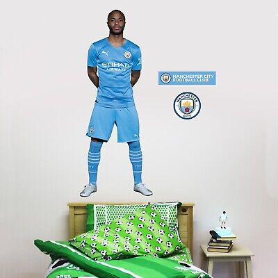 £29.99 • Buy Manchester City Raheem Sterling 20/21 Player Wall Sticker + Man City Decal Set