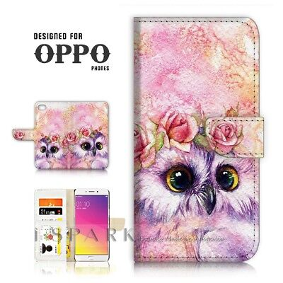 AU12.99 • Buy ( For Oppo A57 ) Wallet Case Cover P21412 Cute Owl