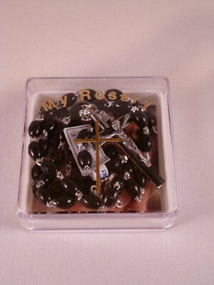 £4.99 • Buy Plastic Rosary ~ Black ~ Extra Strong