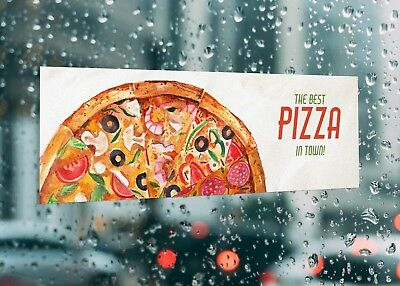 The Best Pizza In Town Window Business Large Self Adhesive Window Shop Sign 3192 • 26.07£