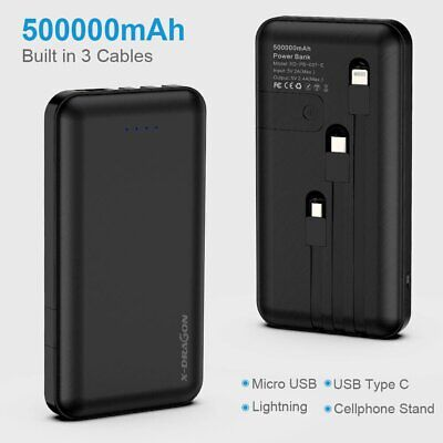 AU32.99 • Buy Portable 300000mAh External Power Bank Pack Dual USB Battery Charger For Phone