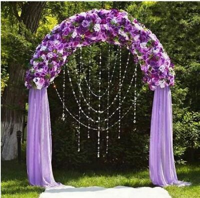 $23.11 • Buy 90  X 55  White Decorative Metal Wedding ARCH Party Ceremony Decorations Supply