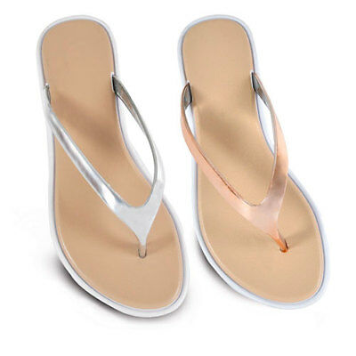 £7.95 • Buy Ladies Rose Gold Or Silver Flip Flops Sandals Toe Post Sizes 3-8 NEW FREE POST