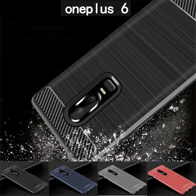 AU5.34 • Buy For OnePlus 7 Pro 7 6T 5T 3T Shockproof Carbon Fiber Soft TPU Rubber Cover Case
