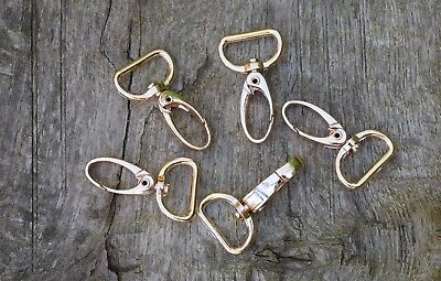 £2.80 • Buy Swivel LOBSTER CLAW CLASPS Trigger Hook Clips For Bag Gold Colour For 20mm Strap