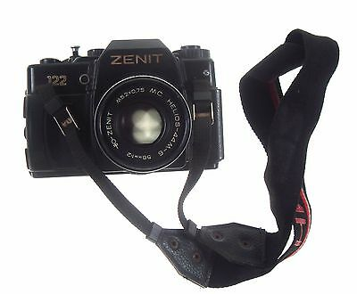 Old Working Camera With Lens & Strap Zenit 122 Helios 44m-6 M52x0.75 Nr 7336 • 29.62£