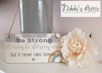 Inspirational Quote Wooden Plaque,Sign, Handmade, Gift, Home,Rainbow, • 4.75£
