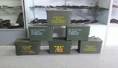 $79.99 • Buy US Military Surplus 50 CAL M2A1 Ammo Can LOT OF 6 Airtight Steel 12x6.5x7.5