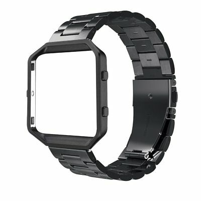 AU24.80 • Buy Simpeak Fitbit Blaze Band, Replacement Stainless Steel Armband With Metal Frame