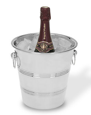 Stainless Steel Ice Bucket Wine Cooler Champagne Cooler  • 7.99£