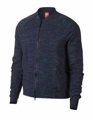 Nike Sportswear Tech Knit Size Large L Jacket Obsidian Heather Grey 832178  473 • 59.99  f73874727