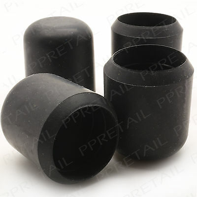 £3.20 • Buy THICK RUBBER FERRULES 4x 25mm Black Anti Scratch Floor Protector Chair/Table New