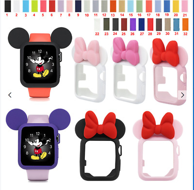 Silicone Sport Band Minnie Mouse Ear Case For Apple Watch For IWatch 38/42 40/44 • 3.59£