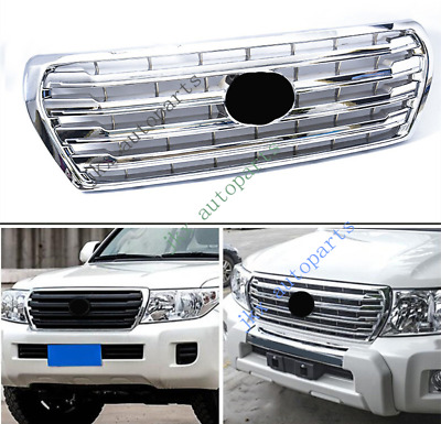 $269.99 • Buy For Toyota Land Cruiser LC200 FJ200 4000 12-15 ABS Silver Front Bumper Grille
