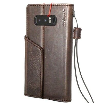 $ CDN45.40 • Buy Genuine Leather Case For Samsung Galaxy Note 8 Book Wallet Magnetic Cover Holder