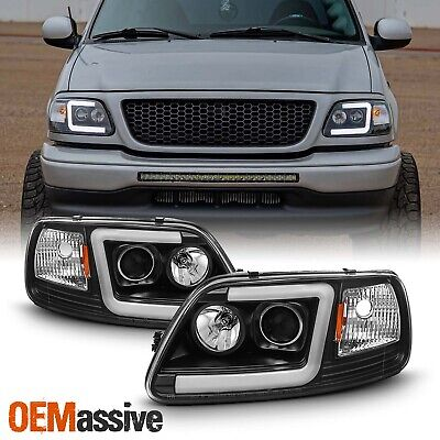 $199.99 • Buy Fits Black 97-03 Ford F150 / 97-02 Expedition LED Bar Projector Headlights