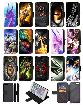 £8.99 • Buy DRAGON GOTHIC ABSTRACT Wallet Flip Phone Case IPhone 4 5 6 7 8 Plus X Comp