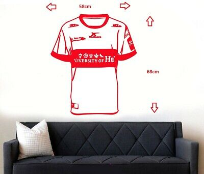 £12.99 • Buy Hull KR Rovers Rugby Shirt Wall Art Sticker/Decal
