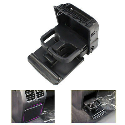 AU26.99 • Buy Black Rear Armrest Central Console Cup Holder For VW Jetta MK5 Golf MK6 GTI EOS