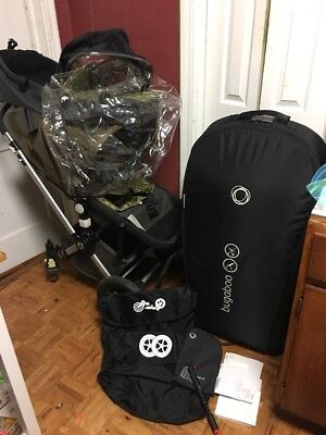 $300 • Buy Bugaboo Cameleon Camo Travel System Single Seat Stroller With Bassinet PLS  READ