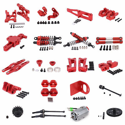 $ CDN13.69 • Buy Upgraded Alum Metal RC Car DIY Spare Parts For 1/12 WLtoys 12428 12423 Red