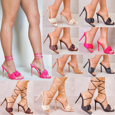 Womens Ladies Clear Perspex See Through High Heel Party Sandals Court Shoes • 19.99£