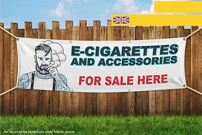 AU33.92 • Buy E-Cig And Accessories Sold Here Vape Heavy Duty PVC Banner Sign 3299