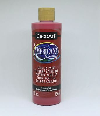 DecoArt Acrylic Paint Primary Red 8 Oz • 3.31£