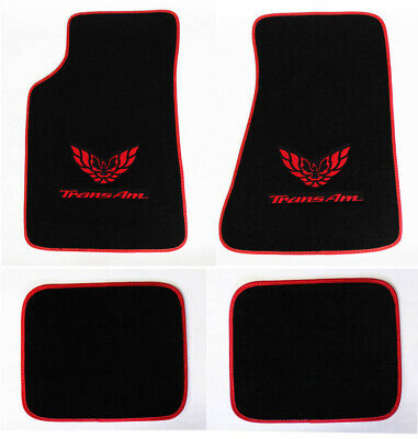 $112.29 • Buy NEW! Carpet Floor Mats 1982-2002 PONTIAC FIREBIRD Trans Am Embroidered Logo 4pc