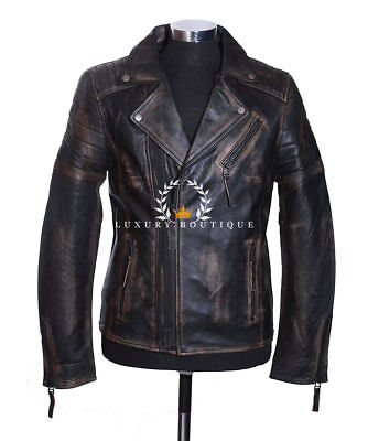 Wolverine Rust Black Men's Movie Designer Real Quilted Lambskin Leather Jacket • 119.99£