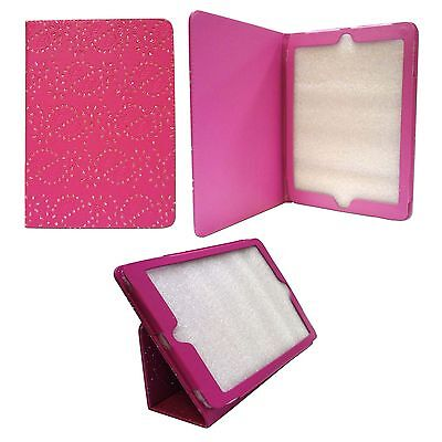 £9.99 • Buy Case For Apple Ipad Air Hot Pink Diamond Bling Glitter Pu Leather Cover
