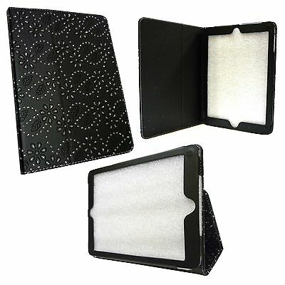 £9.99 • Buy Case For Apple Ipad Air Black Diamond Bling Glitter Pu Leather Cover