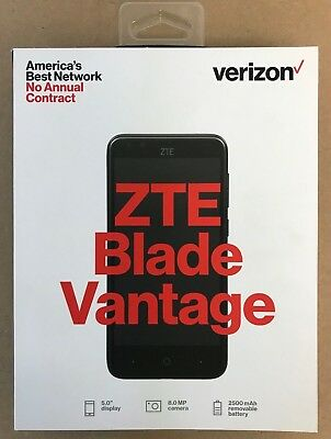 $38.95 • Buy BRAND NEW SEALED ZTE Blade Vantage 4G LTE Verizon Prepaid Phone