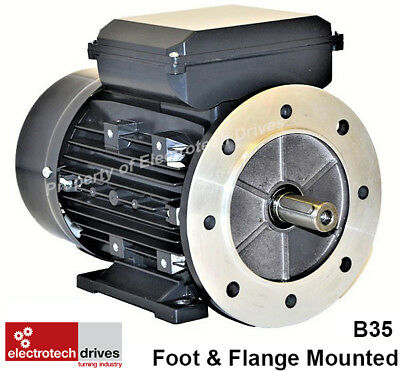 £105.99 • Buy Single Phase, 240V Electric Motor, Foot Flange And Face Options 1400rpm 2800rpm