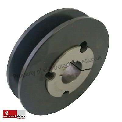 £17.99 • Buy SPA/A Section V Belt Pulley Complete C/w Taper Lock Bush To Suit Your Shaft Size