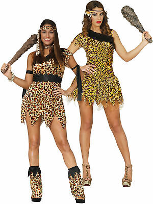 Ladies Cavewoman Costume Adults Cave Girl Prehistoric Fancy Dress Womens Outfit • 13.95£