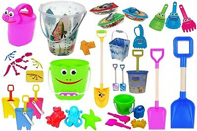 Summer Time Fun Beach Bucket Set Sand Pit Spade Sand Mill Mould Watering Can  • 8.99£