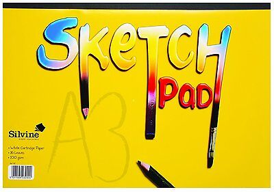 X2 Pads A3 Sketch Pads For Hobbies Arts & Crafts 16 Pages 100 GSM Quality • 10.99£