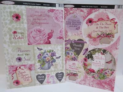 Debbi Moore Shabby Chic Die Cut Garden Toppers Sentiments (5 Sheets) JLH092 • 5.20£
