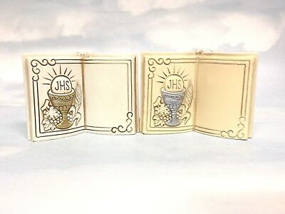 Holy Bible Communion Cake Topper Ivory Gold/Silver Display Christening Free Post • 6.98£