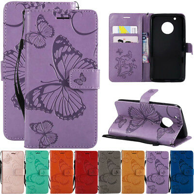 AU6.92 • Buy For Motorola Moto G4 G5 G6 E4 Leather Flip Wallet Magnetic Card Stand Case Cover
