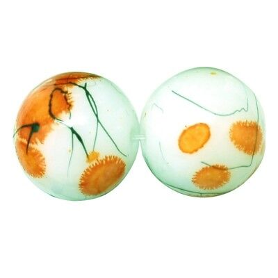 £2.59 • Buy 1 Strand Of Glass Drawbench Painted Baked Beads Orange